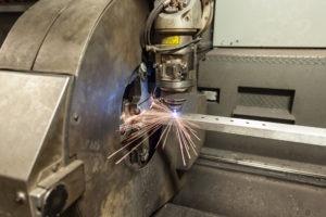 PA tube laser cutting shop