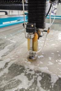 PA water jet cutting service to make metal parts